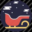 christmas sled, santa sledge, santa sleigh, sleigh, snow sleigh icon