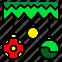 ball, christmas, decoration, dot, leaf, polka, tree