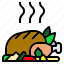 chicken, christmas, food, roast, turkey icon