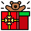 bear, christmas, doll, gift, present, teddy icon
