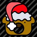 bear, christmas, doll, hat, santa, teddy, toy icon