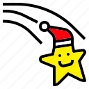 christmas, hat, meteor, santa, star icon