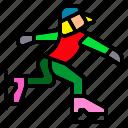 figure, ice, skate, skater, skating, sport, winter icon