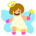 angel, cherub, christmas, cupid, mace icon