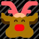 animal, christmas, mammal, reindeer icon