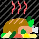 chicken, christmas, food, roast, turkey icon