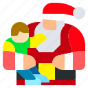 child, christmas, claus, hat, kid, santa icon