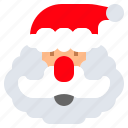 christmas, claus, hat, man, old, santa icon