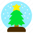 christmas, decoration, glass, globe, tree icon