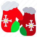 christmas, glove, holiday, snowflak, winter