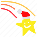 christmas, hat, meteor, santa, star