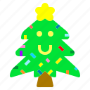 christmas, star, tree, winter icon
