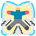 angel, down, human, lay, pose, snow, wing icon