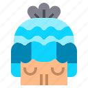 christmas, hat, human, winter, wool icon