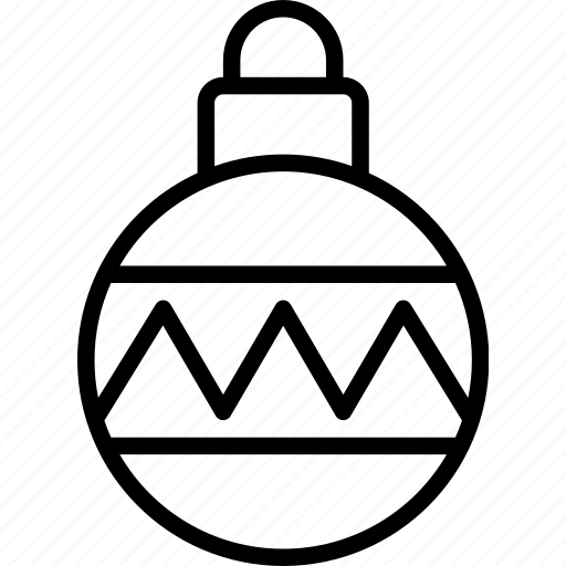 bauble, christmas, decoration, ornament, tree icon