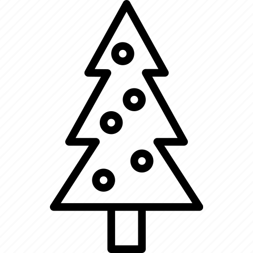 christmas, decorations, holiday, pine, tree, winter icon
