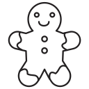 christmas, cookie, food icon