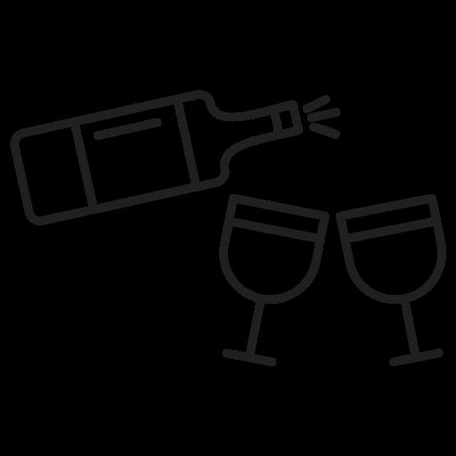 bottle, drink, drinks, glass icon