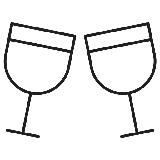 cheers, drinks, food, glass icon