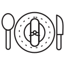 food, knife, plate icon