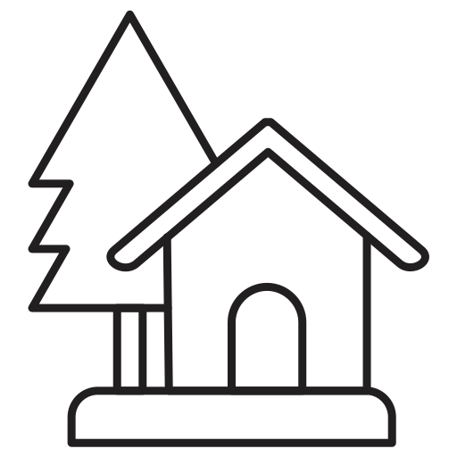 estate, home, house, real, tree icon