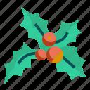 christmas, decoration, mistletoe, ornament, pine, tree icon