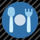 dinner, dish, fork, knife, restaurant icon