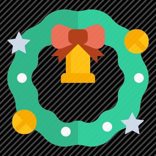 christmas, decoration, ornament, wreath icon