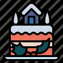 and, bakery, cake, christmas, dessert, food, restaurant icon