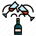 alcohol, celebration, drinks, glasses, party icon
