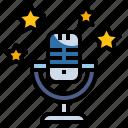 karaoke, mic, sing, song, voice icon