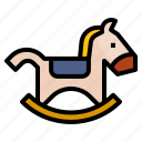 and, baby, horse, kid, rocking, toy, wooden icon
