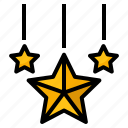 christmas, favourite, rate, shapes, star icon
