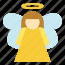 angel, celebration, christmas, wishes icon