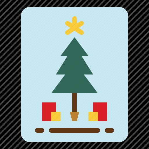 Card, celebration, christmas, invitation icon