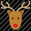 animal, christmas, happy, reindeer