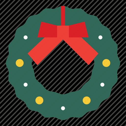 celebration, christmas, decorations, wreath icon