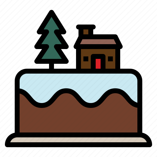 cake, celebration, christmas, food icon