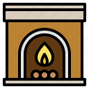 christmas, fireplace, house, warm
