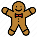 christmas, cookie, gingerbread, man