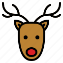animal, christmas, happy, reindeer