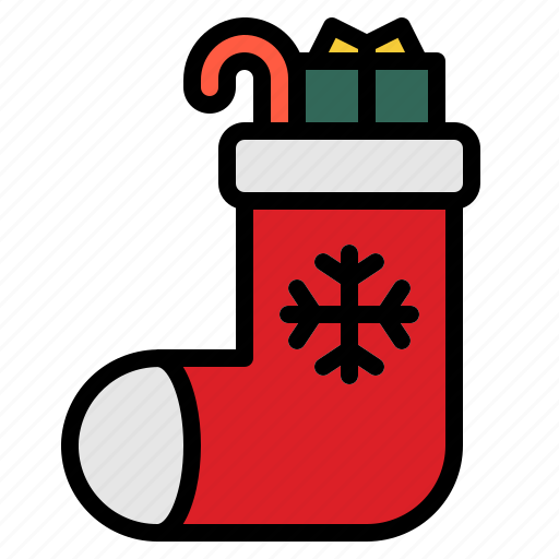 celebration, christmas, gift, sock icon