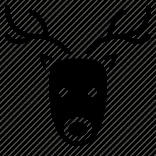 animal, christmas, happy, reindeer icon