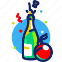 champagne, christmas, newyear, party, sparkling, xmas icon