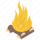 bonfire, burning wood, camp fire, firewood, outdoor fire icon