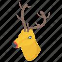 animal, calf, deer, reindeer, rudolph icon
