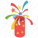 confetti, confetti popper, crackers, exploding party, party popper icon