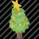 christmas decorations, christmas tree, fancy tree, grand fir, mini pine