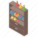 cabinet, sideboard, drawer, cupboard, wardrobe icon