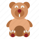 teddy, animal, childhood, puppet, bear